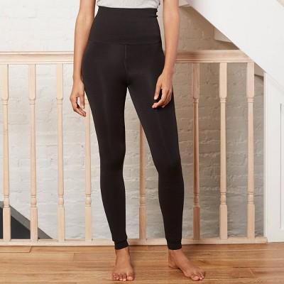 Women's High-Waist Seamless Faux Fur Lined Leggings - A New Day™