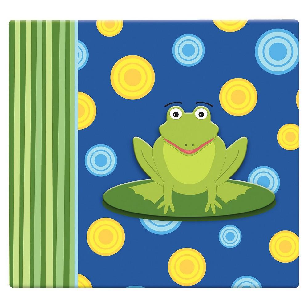 Image of 3D Frog Scrapbook - (12x12), Green/Blue