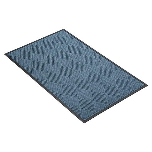 Blue Solid Doormat - (3'x5') - HomeTrax - image 1 of 4