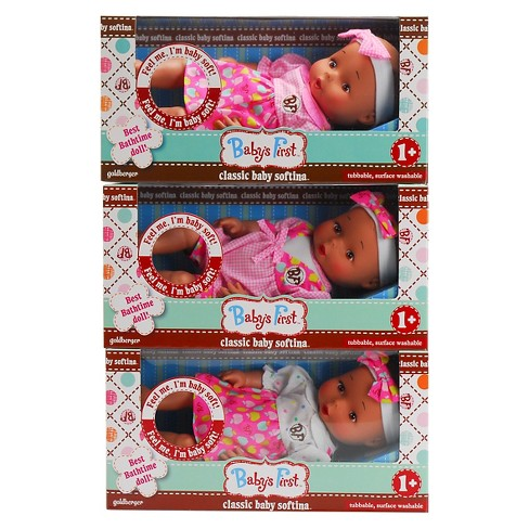Baby's First™ Classic Softina African American Baby Doll - Outfit Color Varies - image 1 of 8