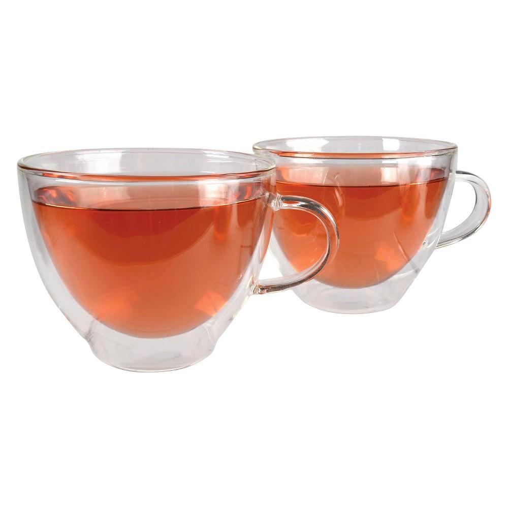 Artland Harmony Tea Cups - 12oz Set of 2, Clear
