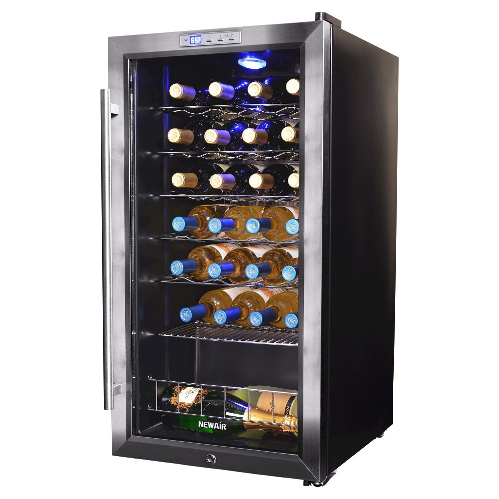 NewAir 27 Bottle Compressor Wine Cooler – Stainless Steel (Silver) Awc-270E 50149422