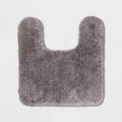 Performance Nylon Contour Bath Rug Gray - Threshold™