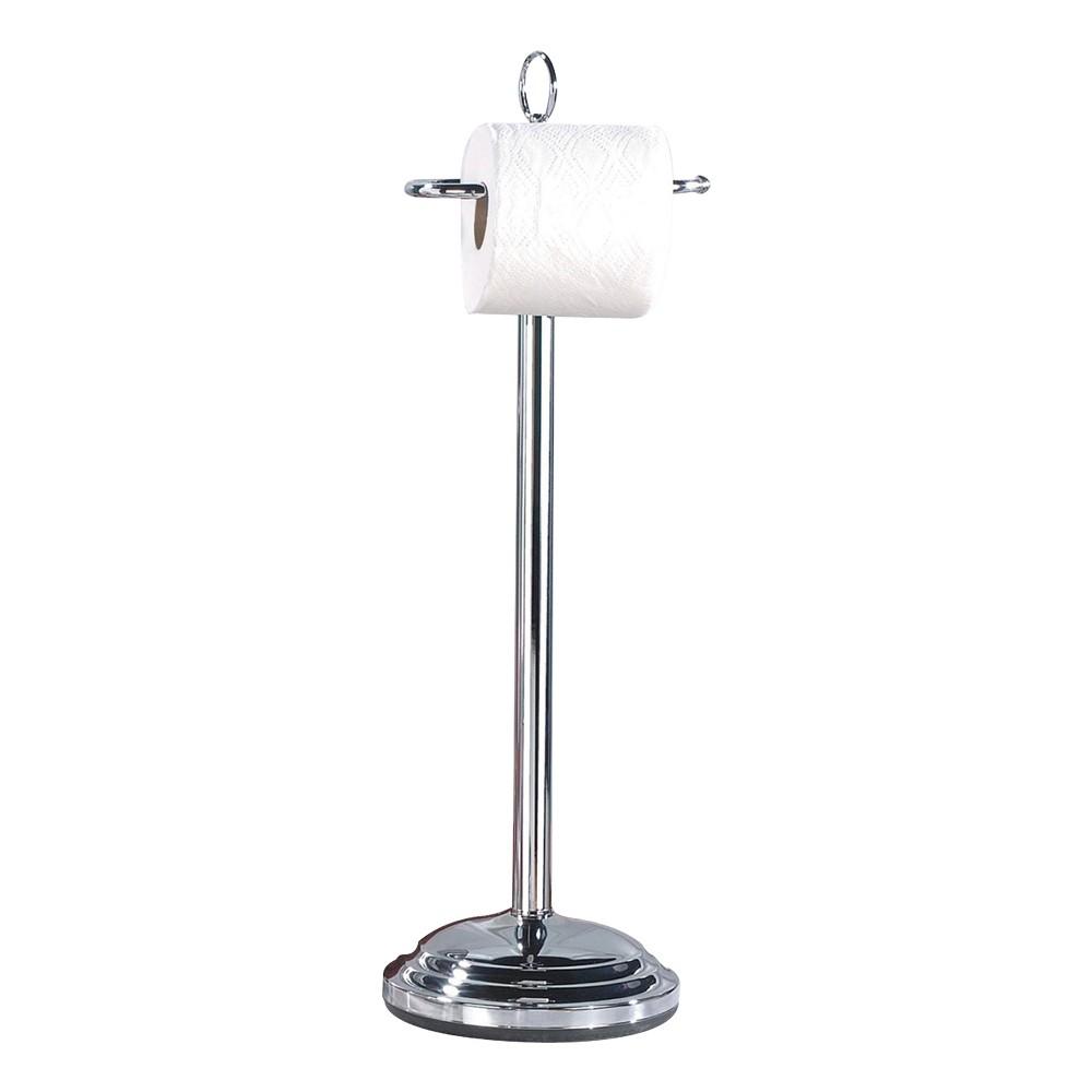 Freestanding Toilet Tissue Holder Chrome (Grey) - Nu Steel