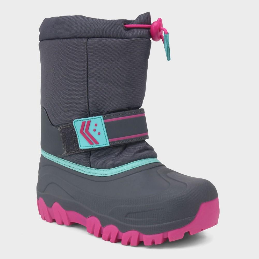 Girls' Pita Toggle Top Winter Boots - Cat & Jack Gray 6