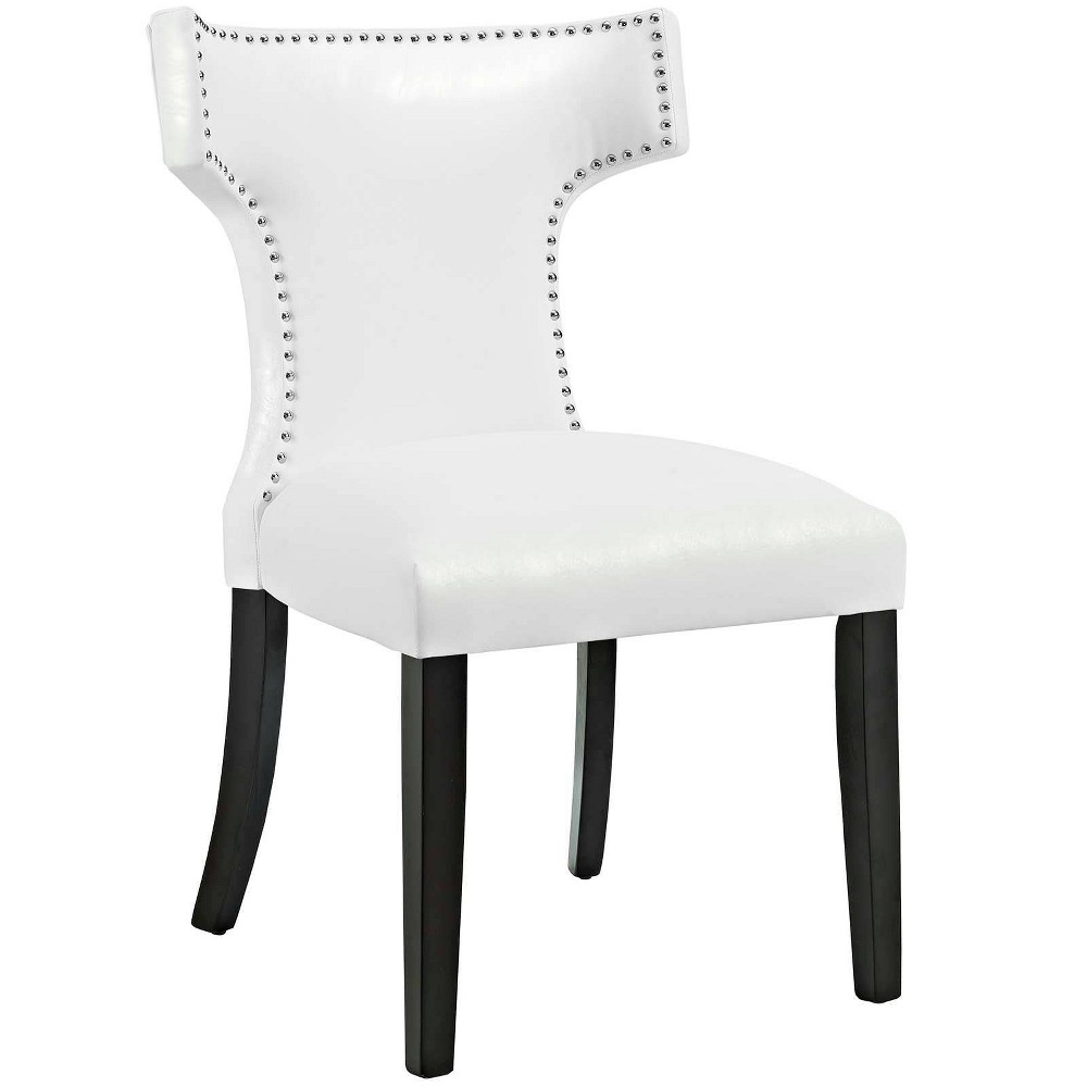 Curve Vinyl Dining Chair White Modway