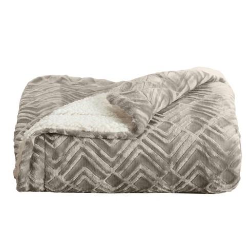Home Fashion Designs Reversible Sherpa Velvet Plush Blanket Target