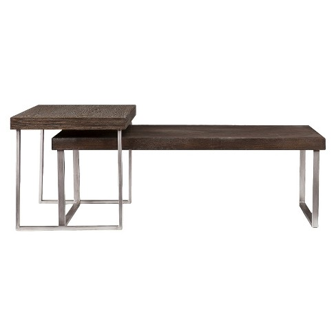 8642a424a6 Mixed Material Nesting Coffee Table - Aiden Lane : Target