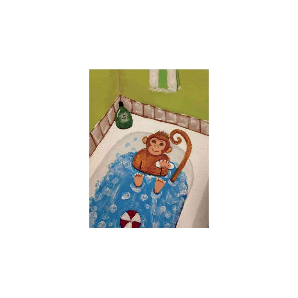 There's a Monkey in Our Bathtub - by Toni Boyd (Paperback)