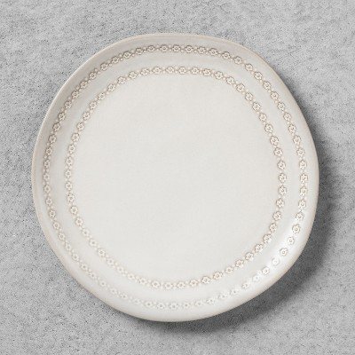 Dessert Plate with Engraved Floral Border - White - Hearth & Hand™ with Magnolia
