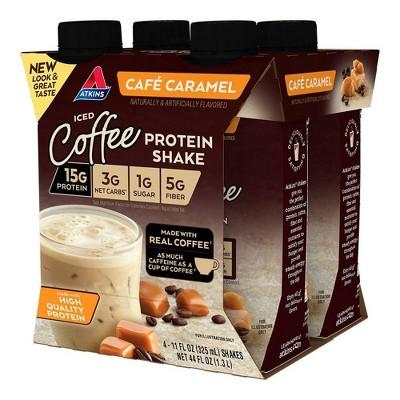 Atkins Dietary Supplement Shake - Caramel - 4ct