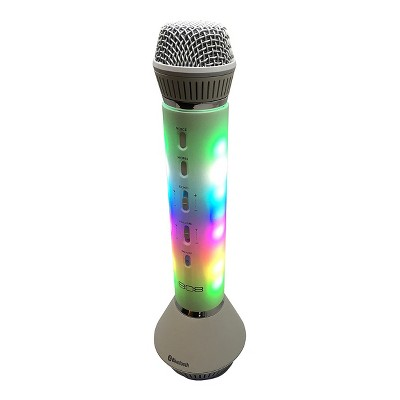 808 All-in-One Karaoke Bluetooth Speaker with Microphone - Light Silver