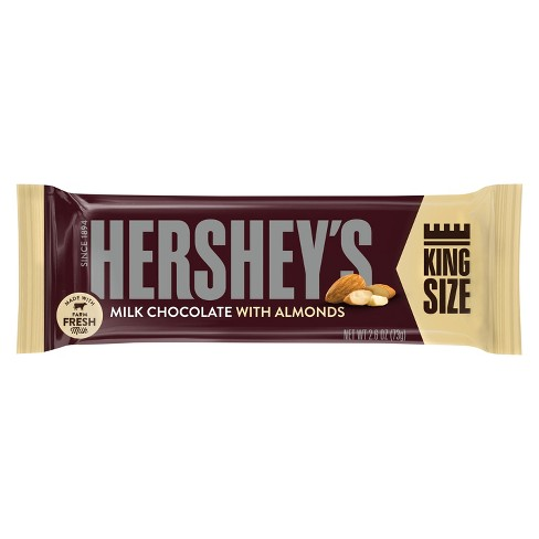 HERSHEY'S King Size Milk Chocolate with Almonds - 2.6oz - image 1 of 2