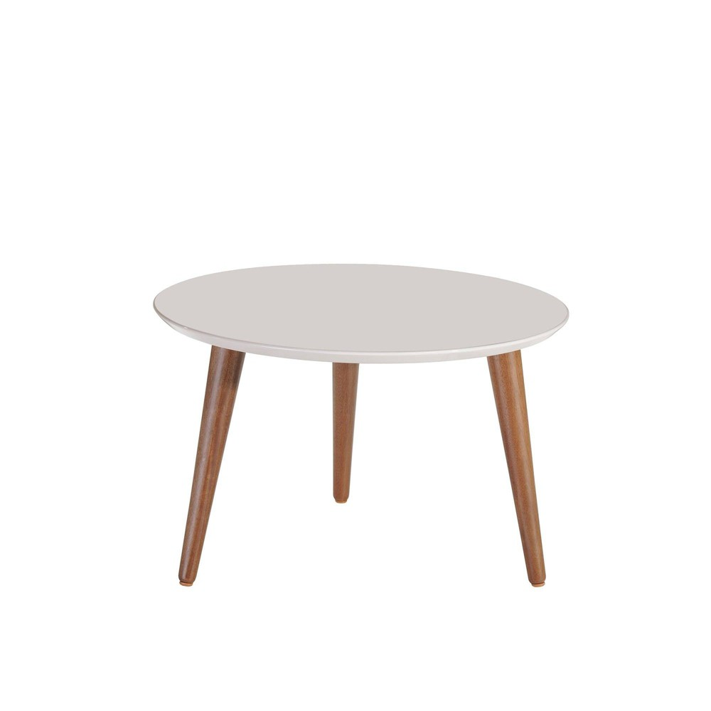 "Image of ""23.62"""" Moore Round Mid - High Coffee Table Off-White - Manhattan Comfort, Beige"""