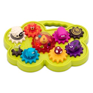 B toys Mooosical Gears Light-Up Musical Shape Sorter with Singing Animals 6pc