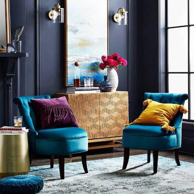 Jewel-Toned Bohemian Living Room Décor Collection ...