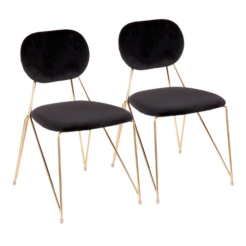 Set of 2 Gwen Contemporary Glam Chairs - LumiSource - image 1 of 4