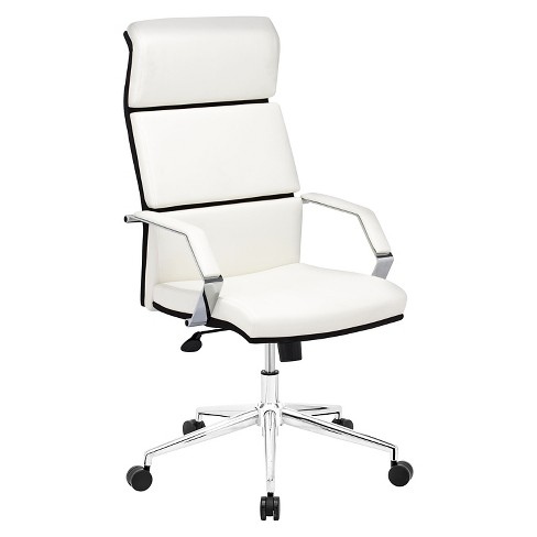 Modern Adjule Upholstered Ergonomic Office Chair White Zm Home
