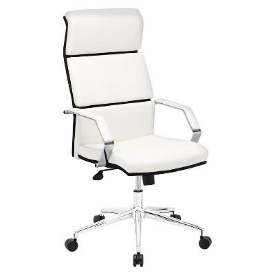 Modern Adjustable Upholstered Ergonomic Office Chair   White   ZM Home :  Target