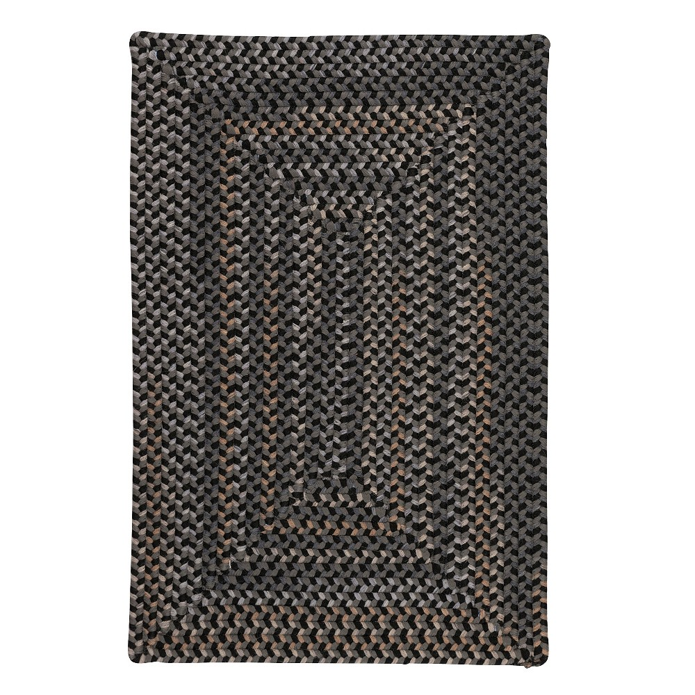 Image of 2'X3' Fleck Braided Area Rug Gray - Colonial Mills