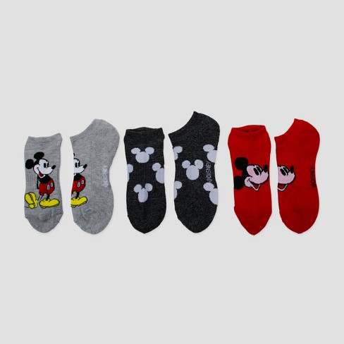 Women's Disney® Mickey Mouse Sport No Show 3pk Casual Sock - Colors Vary 9-11 - image 1 of 1
