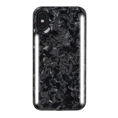 LuMee Duo Pearl iPhone Xs / X Case - Pearl Black
