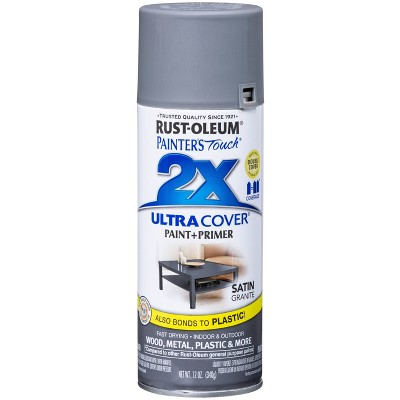 Rust-Oleum 12oz 2X Painter's Touch Ultra Cover Satin Spray Paint Gray