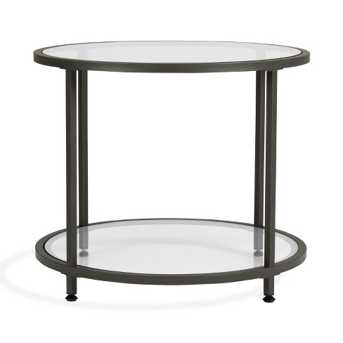 ea5eeb767c33 Home Camber Modern Glass Round End Table 26
