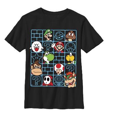 Boy's Nintendo Mario Characters Wall T-Shirt