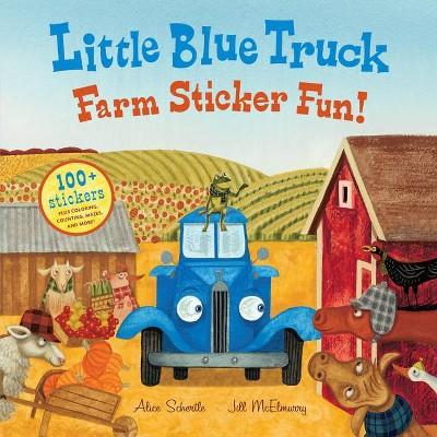 Little Blue Truck Farm Sticker Fun! (Paperback) by Alice Schertle