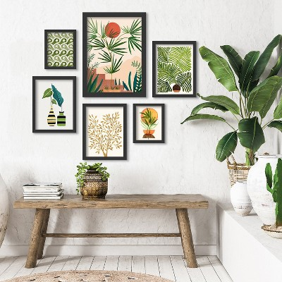 Americanflat Weekend In Mojave by Modern Tropical 6 Piece Framed Gallery Wall Art Set