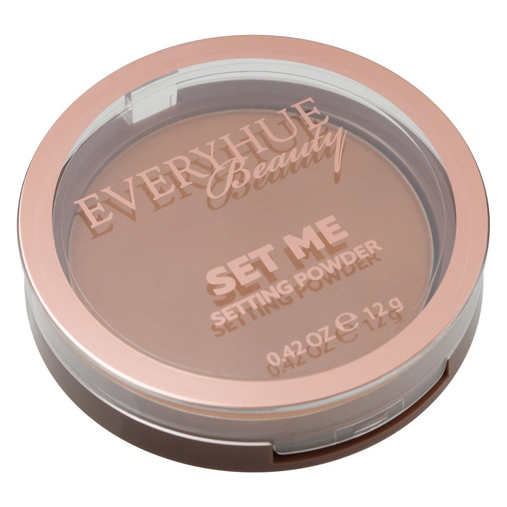 Image of EveryHue Setting Pressed Powder Satin Deep Tan Cinnamon - 0.42oz, Red