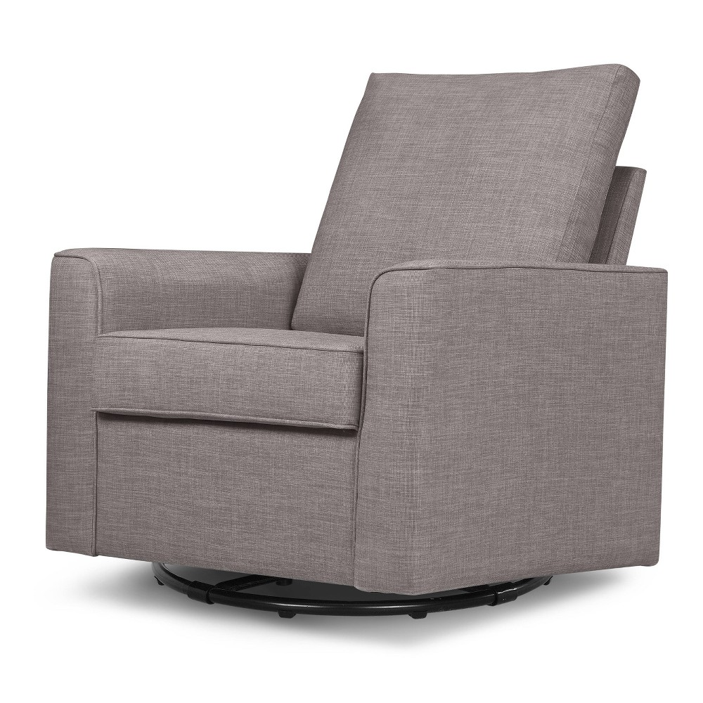 Image of Million Dollar Baby Classic Alden Swivel Glider - Steel Gray Tweed, Silver Gray