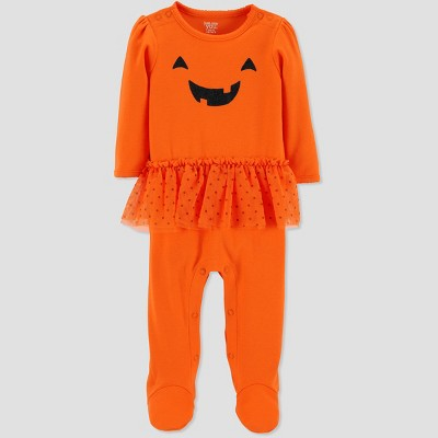 Baby Girls' Halloween Pumpkin Tutu SNP - Just One You® made by carter's Orange 3M