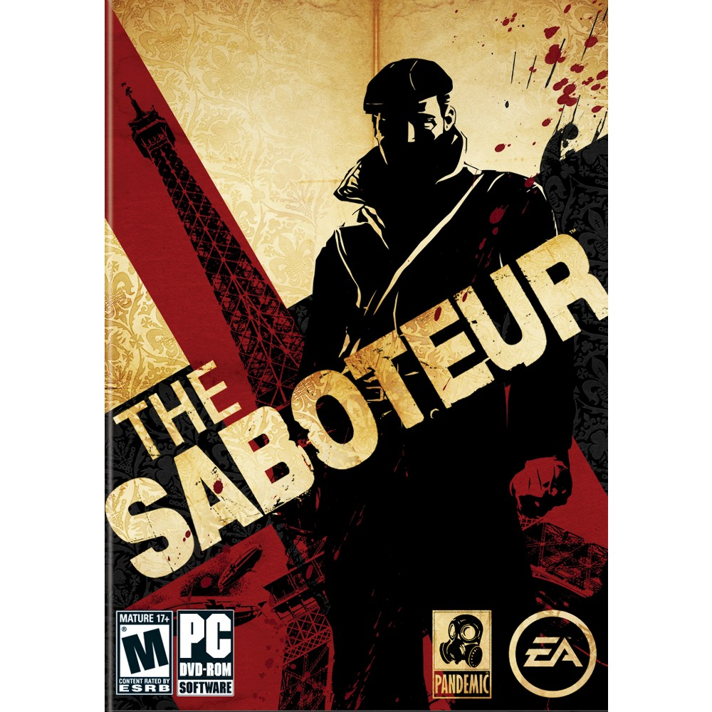 The Saboteur - PC Game Digital What is Electronic Software Download or Digital Code product? Electronic Software Download or delivered product is just like box software equivalent. This is a full version of the software, usually with the exact same End User License Agreement (license/use rights). The customer downloads the product directly to their computer from the Publisher site or a secure source endorsed by the Publisher rather than installing from a disk. The download link, instructions and license key are set to the customer via email, usually in 1-3 hours from purchase (deliveries can take up to 24 hours). Product keys are available if lost, and product can be re-installed if needed. For services, the key that is sent is all that is needed to activate the service from the manufacturers site. Email communication will come from our service provider at (noreply@esd.synnex.com). To redeem your download code, you will to use a partner's website. Target is not responsible for the content, products or services on our partner website.