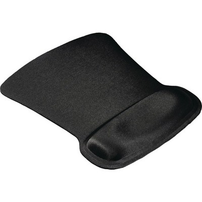 "Allsop Ergoprene Gel Mouse Pad with Wrist Rest - Black - (30191) - 1"" x 8"" x 11"" Dimension - Black"