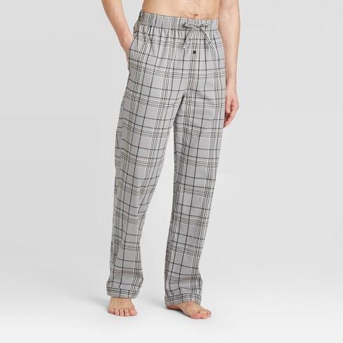 Men's Trellis Poplin Pajama Pants - Goodfellow & Co™ Gray - image 1 of 2