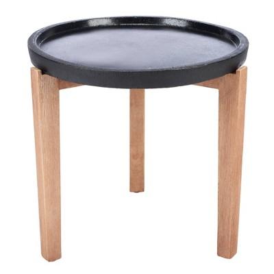 Serka Side Table - Natural/Black - Safavieh