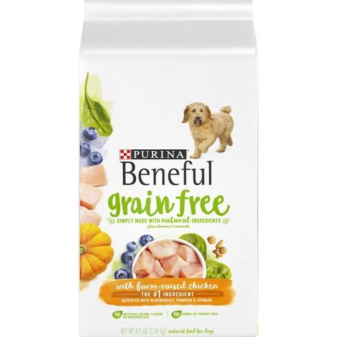 Purina Beneful Grain Free With Farm-Raised Chicken Dry Dog Food - image 1 of 4