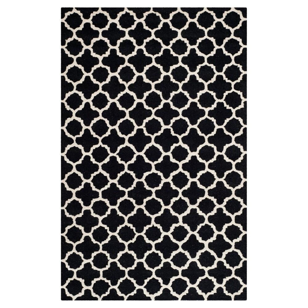 5'X8' Geometric Area Rug Black - Safavieh