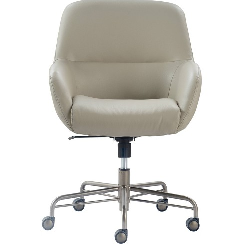 Forester Leather Office Chair Modern Cream Finch Target
