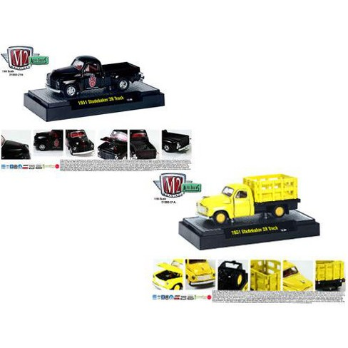 Auto Trucks Release 21A 1951 Studebaker 2R 2pc Cars Set W/CASES 1/64 Diecast Model Cars by M2 - image 1 of 1