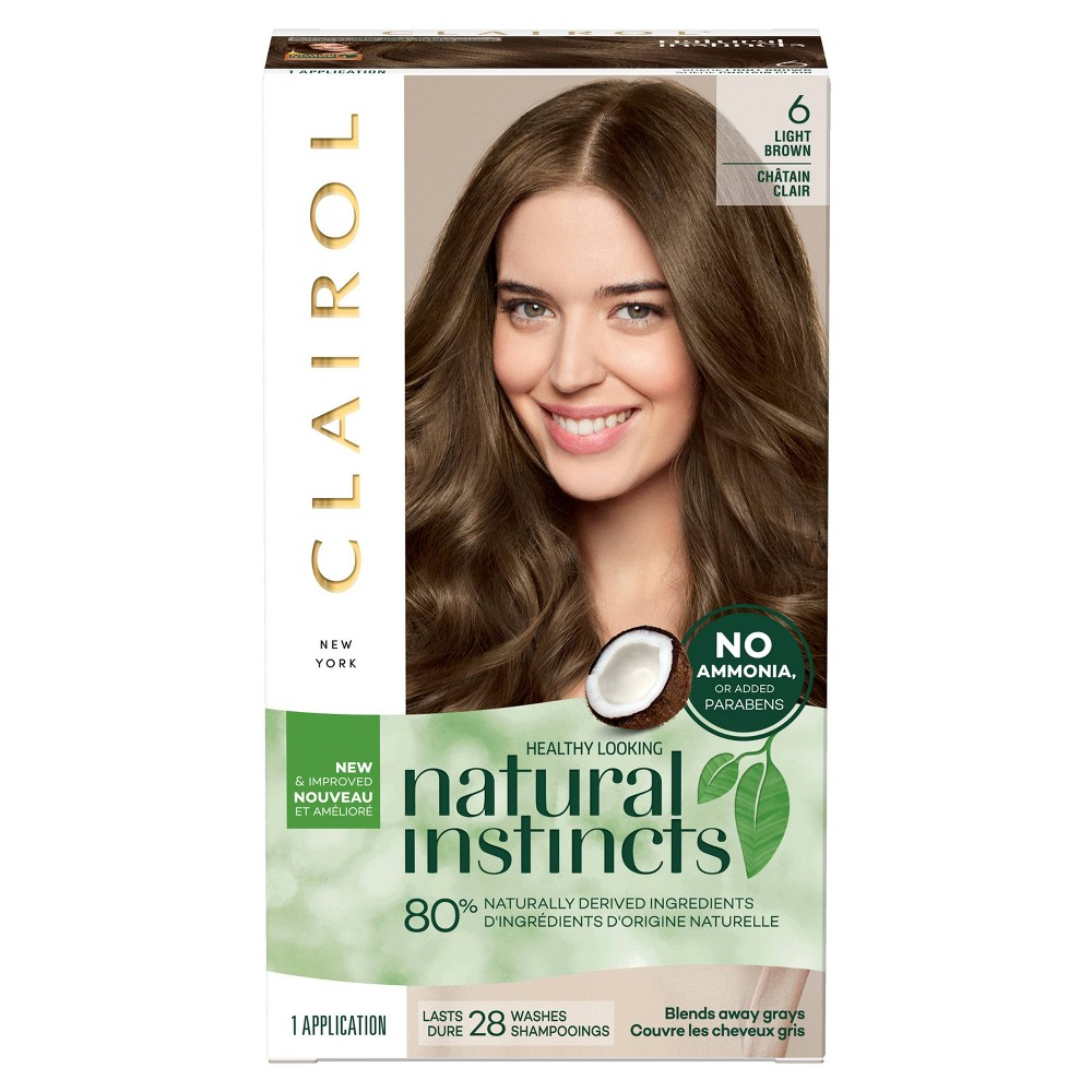 Image of Natural Instincts Clairol Non-Permanent Hair Color - 6 Light Brown, Suede - 1 Kit, 6- Light Brown