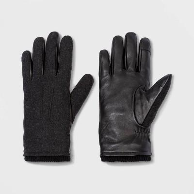 Men's Leather Gloves - Goodfellow & Co™ Black