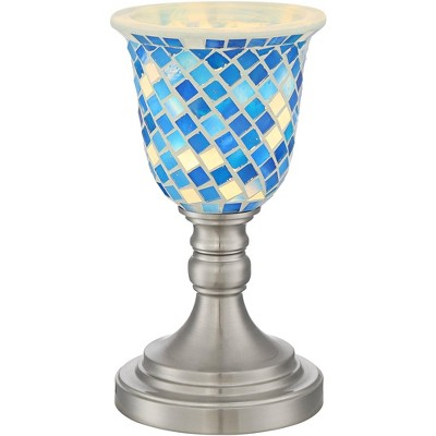 "360 Lighting Kristen 11"" High Blue Mosaic Accent Table Lamp"