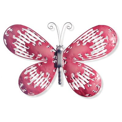 "18"" Pink Butterfly Wall Decor- National Tree Company"