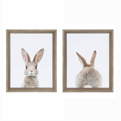 """15"""" x 12"""" Calter Bunny Framed Print Art Set by Amy Peterson Gray - Kate and Laurel"""