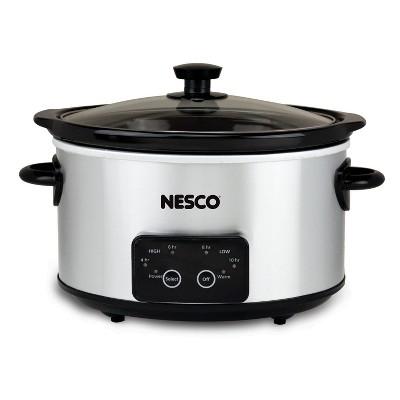 NESCO Slow Cooker 4 Quart Digital Stainless Steel