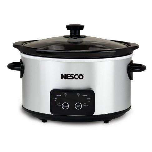 NESCO Slow Cooker 4 Quart Digital Stainless Steel - image 1 of 4