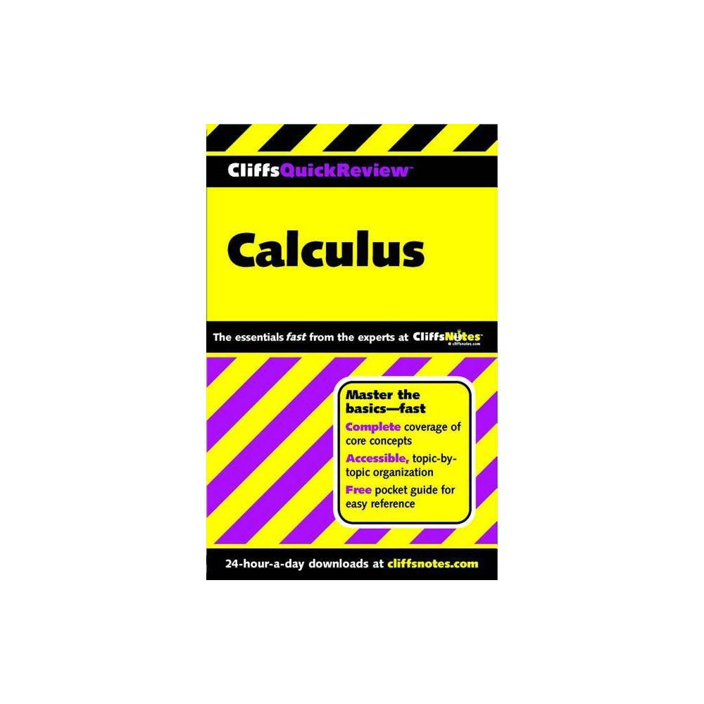 Calculus Cliffs Quick Review Paperback 7th Edition By Jonathan J White Bernard V Zandy Paperback